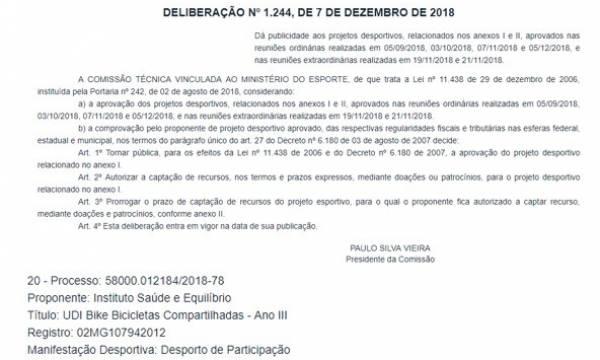 UDIBIKE  - MAIS UMA APROVAÇÃO!